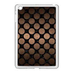 Circles2 Black Marble & Bronze Metal Apple Ipad Mini Case (white) by trendistuff
