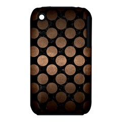 Circles2 Black Marble & Bronze Metal Apple Iphone 3g/3gs Hardshell Case (pc+silicone) by trendistuff