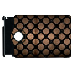 Circles2 Black Marble & Bronze Metal Apple Ipad 3/4 Flip 360 Case by trendistuff