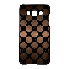 Circles2 Black Marble & Bronze Metal Samsung Galaxy A5 Hardshell Case  by trendistuff
