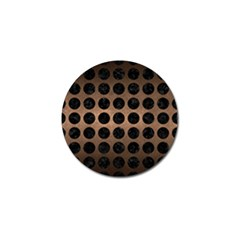 Circles1 Black Marble & Bronze Metal (r) Golf Ball Marker (10 Pack) by trendistuff