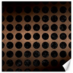 Circles1 Black Marble & Bronze Metal (r) Canvas 20  X 20  by trendistuff