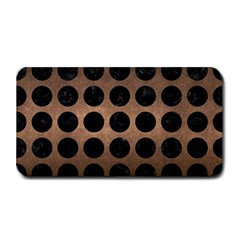 Circles1 Black Marble & Bronze Metal (r) Medium Bar Mat by trendistuff