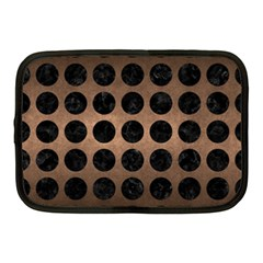 Circles1 Black Marble & Bronze Metal (r) Netbook Case (medium) by trendistuff