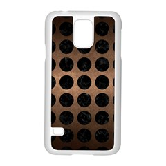 Circles1 Black Marble & Bronze Metal (r) Samsung Galaxy S5 Case (white) by trendistuff