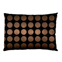 Circles1 Black Marble & Bronze Metal Pillow Case (two Sides) by trendistuff