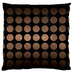 Circles1 Black Marble & Bronze Metal Large Flano Cushion Case (two Sides) by trendistuff
