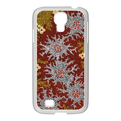 Aboriginal Art – Riverside Dreaming Samsung Galaxy S4 I9500/ I9505 Case (white) by hogartharts