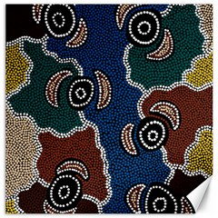 Aboriginal Art   Riverside Dreaming Canvas 20  X 20   by hogartharts
