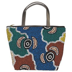 Aboriginal Art   Riverside Dreaming Bucket Bags