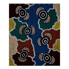 Aboriginal Art   Riverside Dreaming Shower Curtain 60  X 72  (medium)  by hogartharts