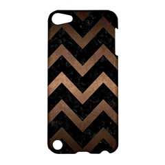 Chevron9 Black Marble & Bronze Metal Apple Ipod Touch 5 Hardshell Case by trendistuff