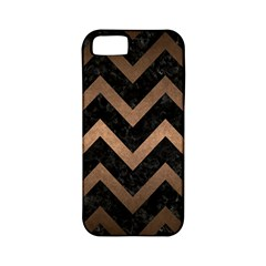 Chevron9 Black Marble & Bronze Metal Apple Iphone 5 Classic Hardshell Case (pc+silicone) by trendistuff