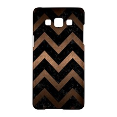 Chevron9 Black Marble & Bronze Metal Samsung Galaxy A5 Hardshell Case  by trendistuff