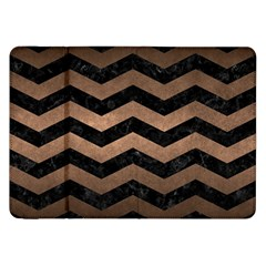 Chevron3 Black Marble & Bronze Metal Samsung Galaxy Tab 8 9  P7300 Flip Case by trendistuff