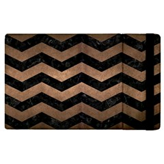 Chevron3 Black Marble & Bronze Metal Apple Ipad Pro 9 7   Flip Case