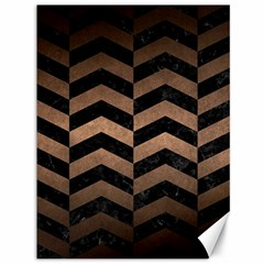 Chevron2 Black Marble & Bronze Metal Canvas 36  X 48  by trendistuff