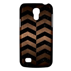 Chevron2 Black Marble & Bronze Metal Samsung Galaxy S4 Mini (gt I9190) Hardshell Case  by trendistuff
