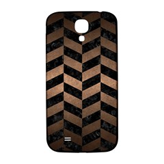 Chevron1 Black Marble & Bronze Metal Samsung Galaxy S4 I9500/i9505  Hardshell Back Case by trendistuff