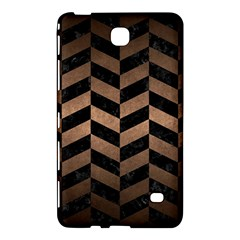 Chevron1 Black Marble & Bronze Metal Samsung Galaxy Tab 4 (7 ) Hardshell Case  by trendistuff
