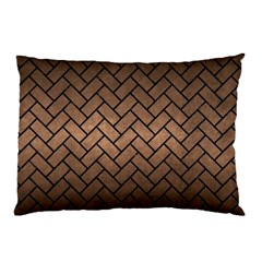 Brick2 Black Marble & Bronze Metal (r) Pillow Case by trendistuff