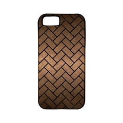 Brick2 Black Marble & Bronze Metal (r) Apple Iphone 5 Classic Hardshell Case (pc+silicone) by trendistuff