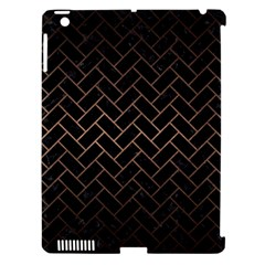 Brick2 Black Marble & Bronze Metal Apple Ipad 3/4 Hardshell Case (compatible With Smart Cover) by trendistuff