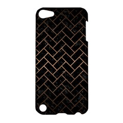 Brick2 Black Marble & Bronze Metal Apple Ipod Touch 5 Hardshell Case by trendistuff
