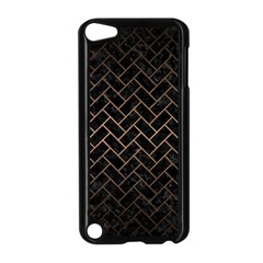 Brick2 Black Marble & Bronze Metal Apple Ipod Touch 5 Case (black) by trendistuff