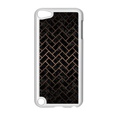 Brick2 Black Marble & Bronze Metal Apple Ipod Touch 5 Case (white) by trendistuff
