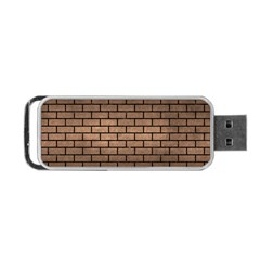 Brick1 Black Marble & Bronze Metal (r) Portable Usb Flash (two Sides) by trendistuff