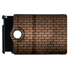 Brick1 Black Marble & Bronze Metal (r) Apple Ipad 3/4 Flip 360 Case by trendistuff