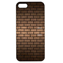 Brick1 Black Marble & Bronze Metal (r) Apple Iphone 5 Hardshell Case With Stand by trendistuff