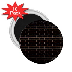 Brick1 Black Marble & Bronze Metal 2 25  Magnet (10 Pack) by trendistuff