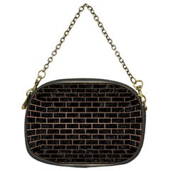 Brick1 Black Marble & Bronze Metal Chain Purse (one Side) by trendistuff