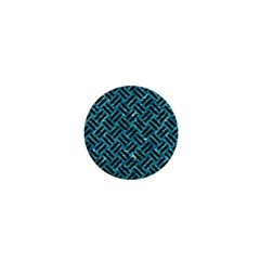 Woven2 Black Marble & Blue Green Water (r) 1  Mini Button