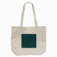Woven2 Black Marble & Blue Green Water (r) Tote Bag (cream) by trendistuff