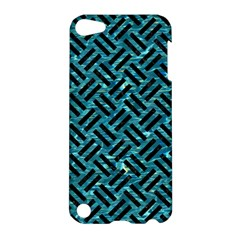 Woven2 Black Marble & Blue Green Water (r) Apple Ipod Touch 5 Hardshell Case by trendistuff
