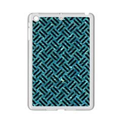 Woven2 Black Marble & Blue Green Water (r) Apple Ipad Mini 2 Case (white) by trendistuff