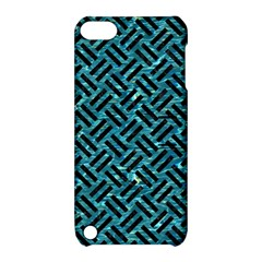 Woven2 Black Marble & Blue Green Water (r) Apple Ipod Touch 5 Hardshell Case With Stand by trendistuff