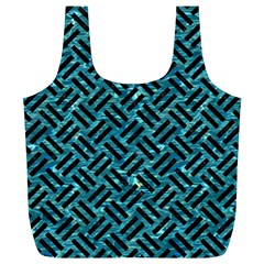 Woven2 Black Marble & Blue Green Water (r) Full Print Recycle Bag (xl) by trendistuff