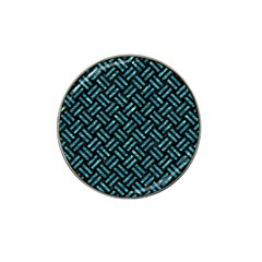Woven2 Black Marble & Blue Green Water Hat Clip Ball Marker by trendistuff
