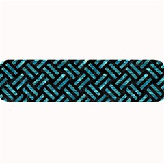 Woven2 Black Marble & Blue Green Water Large Bar Mat by trendistuff
