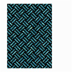 Woven2 Black Marble & Blue Green Water Small Garden Flag (two Sides) by trendistuff