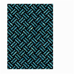 Woven2 Black Marble & Blue Green Water Large Garden Flag (two Sides) by trendistuff