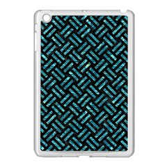 Woven2 Black Marble & Blue Green Water Apple Ipad Mini Case (white) by trendistuff