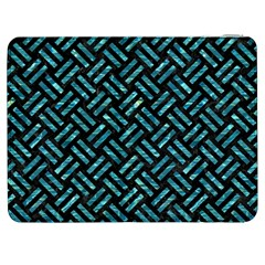 Woven2 Black Marble & Blue Green Water Samsung Galaxy Tab 7  P1000 Flip Case by trendistuff