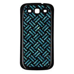 Woven2 Black Marble & Blue Green Water Samsung Galaxy S3 Back Case (black) by trendistuff
