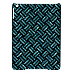 Woven2 Black Marble & Blue Green Water Apple Ipad Air Hardshell Case by trendistuff