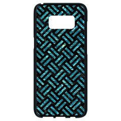Woven2 Black Marble & Blue Green Water Samsung Galaxy S8 Black Seamless Case by trendistuff